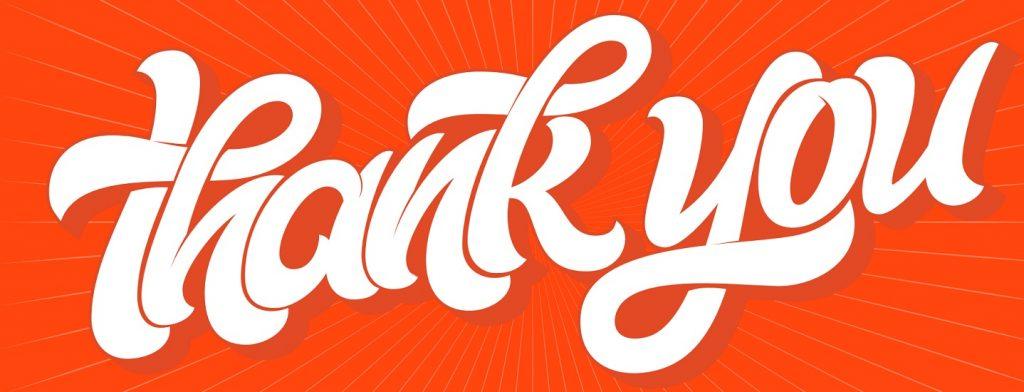 thank you big orange banner