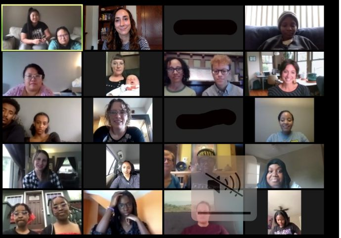 Zoom celebration with Eureka! graduates and YWCA staff